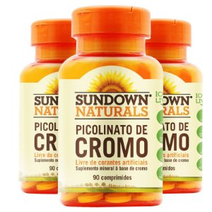 Kit - 3 Picolinato de cromo Sundown 90 Comprimidos