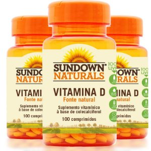 Kit - 3 Vitamina D3 Sundown 100 Comprimidos