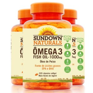 Kit - 3 Fish Oil Ômega 3 Sundown 320 Cápsulas