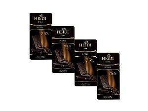Kit - 4 Chocolate Heidi Amargo 75% 80g
