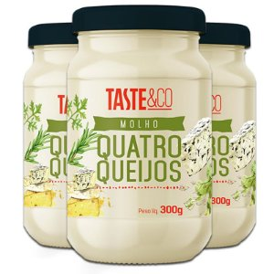 Kit - 3 Molho Taste & Co Quatro Queijos 300g