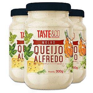 Kit - 3 Molho de Queijo Alfredo Taste & Co 300g