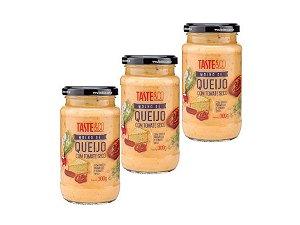 Kit - 3 Molho de Queijo com Tomate Seco Taste & Co 300g