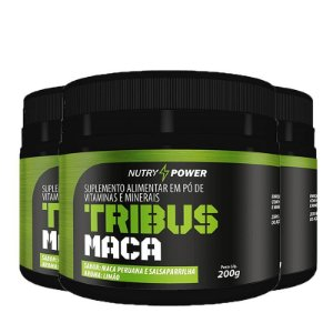 Kit 3 Pós Treino tribus maca Apisnutri Nutry Power 200g