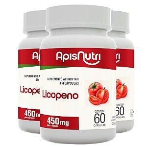 Kit 3 Licopeno de tomate Apisnutri 60 cápsulas