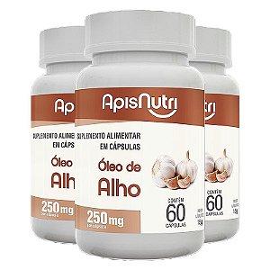 Kit 3 Óleo de alho Apisnutri 60 cápsulas