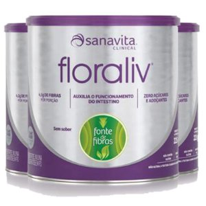 Kit 3 Floraliv Sanavita regulador intestinal 225g