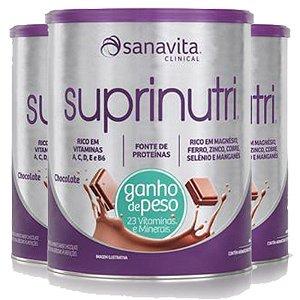 Kit 3 Suprinutri ganho de peso Sanavita chocolate 400g