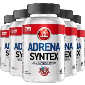 Kit 5 Adrena Syntex USA Midway 60 cápsulas