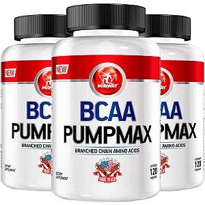 Kit 3 BCAA Pumpmax Midway 120 cápsulas