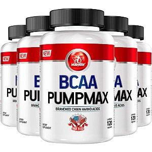 Kit 5 BCAA Pumpmax Midway 120 cápsulas