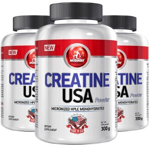 Kit 3 Creatina USA Midway 300g