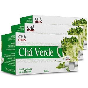 Kit 3 Chá verde Chá mais 30 Sachês