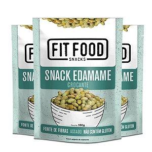 Kit 3 Snack Edamame levemente salgado FIT FOOD 100g