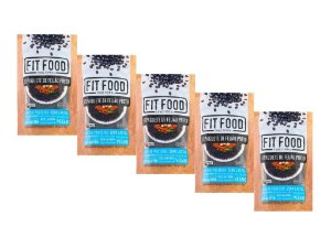 KIT 5 ESPAGUETE DE FEIJÃO PRETO FIT FOOD 200G