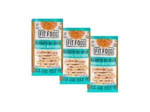 KIT 3 BISCOITO DE ARROZ MULTIGRÃOS FIT FOOD 100G