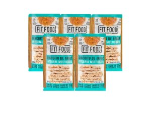 KIT 5 BISCOITO DE ARROZ MULTIGRÃOS FIT FOOD 100G