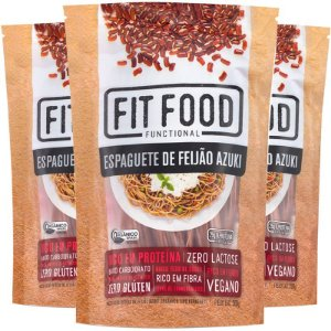 Kit 3 Espaguete de feijão Azuki Fit Food 200g