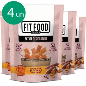 Kit 4 Batata doce desidratada Fit Food 60g