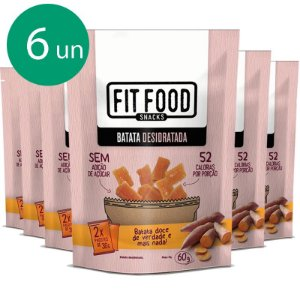 Kit 6 Batata doce desidratada Fit Food 60g