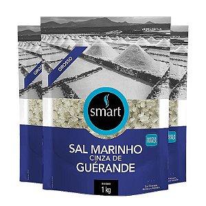 KIT 3 SAL MARINHO CINZA GROSSO SMART 1KG