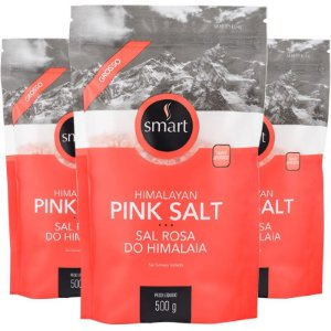 Kit 3 Sal rosa do Himalaia grosso SMART 500g