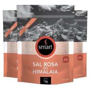 Kit 3 Sal Rosa do himalaia fino SMART 1KG