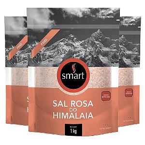 Kit 3 Sal Rosa do himalaia fino SMART 1KG