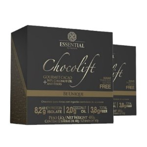 KIT 2 CHOCOLIFT BE UNIQUE ESSENTIAL NUTRITION BOX 12 UNIDADES
