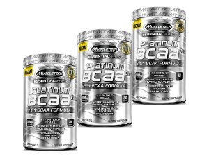 KIT 3 PLATINUM BCAA 8:1:1 MUSCLETECH 1000 MG 200 TABLETS