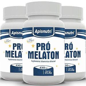 Kit 3 Pró Melaton Apisnutri 430mg 120 cápsulas