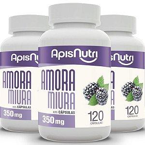 Kit 3 Amora Miura Apisnutri 350mg 120 cápsulas