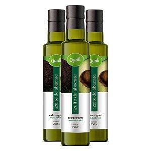 Kit 3 Azeite de abacate extra virgem Qualicoco 250ml