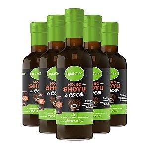 Kit 5 Shoyu de coco Qualicôco 250ml