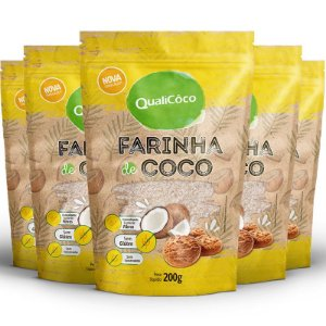 Kit 5 Farinha de coco Qualicôco 200g