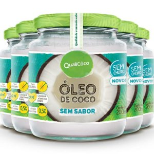 Kit 5 Óleo de coco sem sabor Qualicôco 200ml