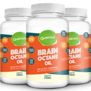 Kit 3 Brain Octane Oil MCT Qualicôco 250ml