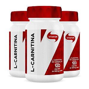 Kit 3 L-Carnitina Vitafor 120 cápsulas