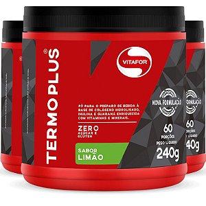 Kit 3 Termo Plus Termogênico Vitafor limão 240g