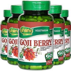Kit 5 Goji Berry Unilfe 60 cápsulas