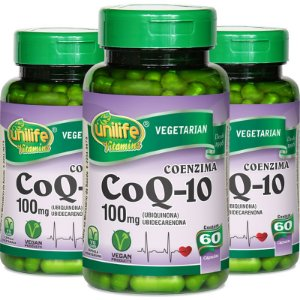 Kit 3 Coenzima Coq-10 Unilife 60 cápsulas