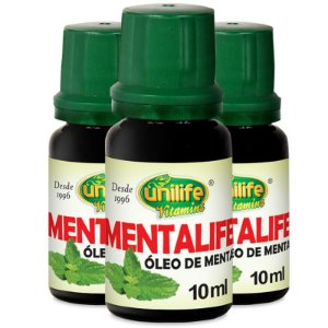 Kit 3 Óleo de menta Unilife Mentalife 10ml