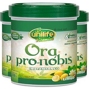 Kit 3 Ora pró nóbis bebida instantânea Unilife 220g