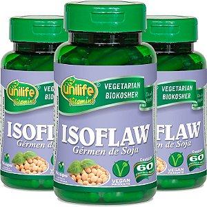 Kit 3 Isoflavona Germen de soja Unilife 60 cápsulas