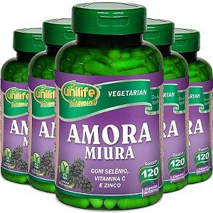 Kit 5 Amora Miura Unilife 120 cápsulas
