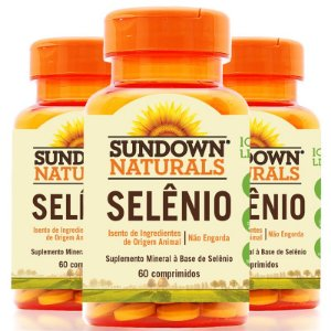 Kit 3 Selênio 34mcg Sundown 60 cápsulas