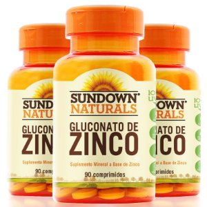 KIT 3 ZINCO 7MG SUNDOWN 90 COMPRIMIDOS