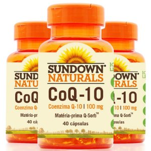 Kit 3 Coenzima Q10 100mg Sundown 40 cápsulas