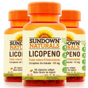 Kit 3 Licopeno 10mg Lycopene Sundown 60 cápsulas