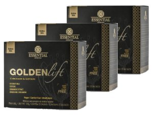 KIT 3 GOLDEN LIFT MILK SUPER FOOD ESSENTIAL NUTRITION 15 SACHÊS
